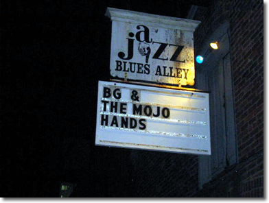 BG at Blues Alley
